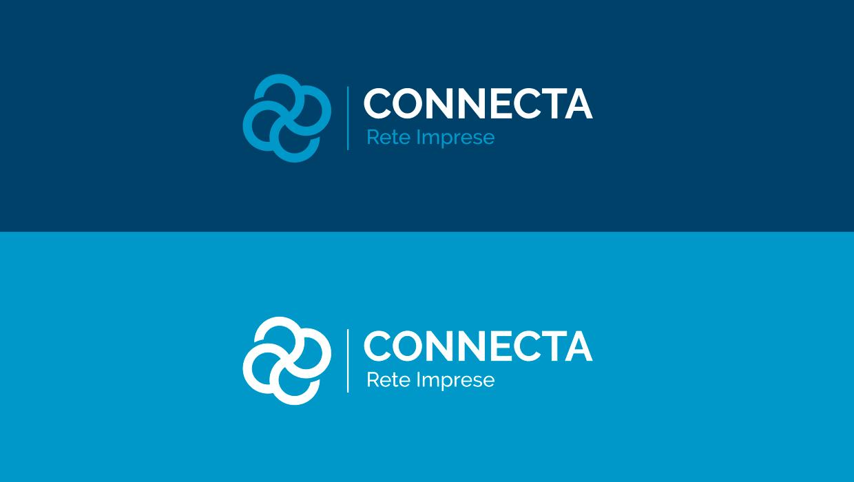 Connecta logo in negativo