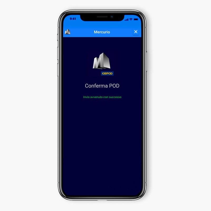 GEFCO app invio dati