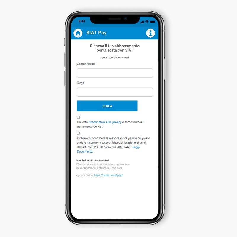 SIAT Pay app abbonamento
